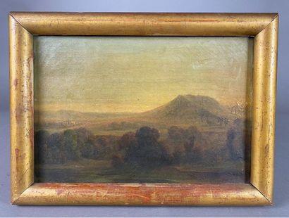 École du XIXe siècle. Paysage à la colline....
