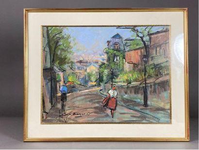 L. BORGER (?) (XXe siècle). Rue de Montmartre....