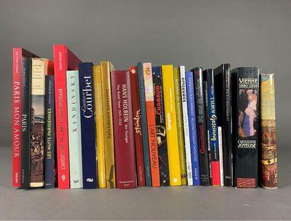 Lot de 25 livres d'art environ.