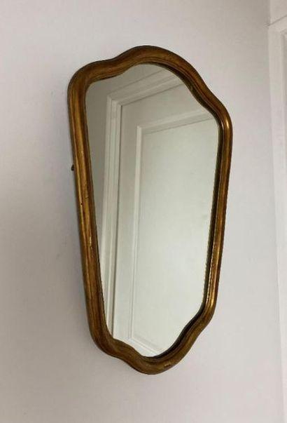Two mirrors.x000D_  High. : 100 cm - Width : 30,5 cm  High. : 56.5 cm - Width :...