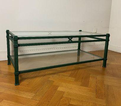 Table basse rectangulaire à deux plateaux...