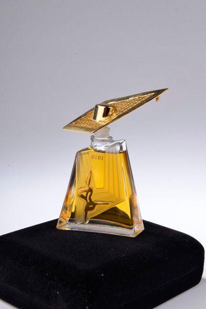 JEAN BARTHET.  Bibi (années 1990).  Édition grand luxe, curieux flacon du Maître-chapelier...