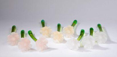 CACHAREL.  Anaïs Anaïs, collection fleurs (années 1990).  Lot de 9 flacons vaporisateur...