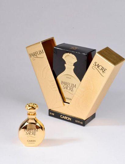 CARON.  Parfum sacré (1989).  Flacon gourde,...