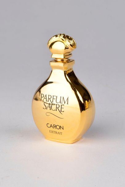 CARON.  Parfum sacré (1989).  Flacon gourde, bouchon aux deux abeilles laquées...