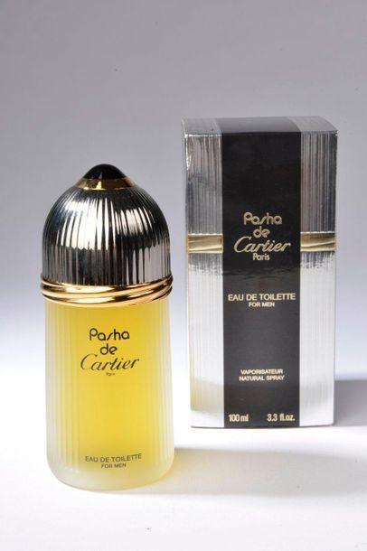 CARTIER.  Pasha (années 2000).  Flacon contenant 100 ml d'eau de toilette avec...