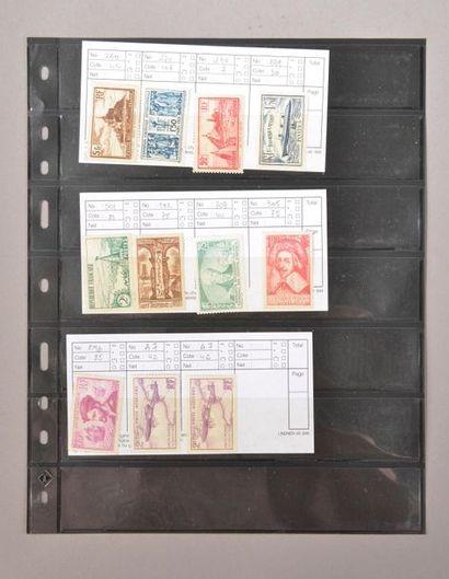 Petite plaquette de timbres neufs semi-modernes...