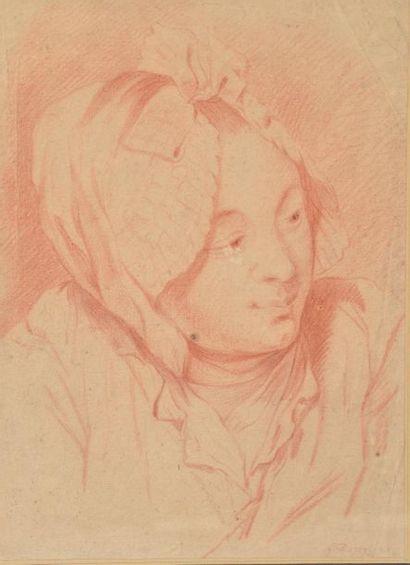 École française du XVIIIème siècle. Portrait...