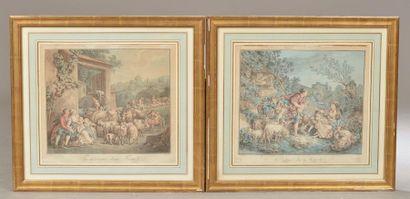 D'après Jean-Baptiste HUET (1745-1811). Le...