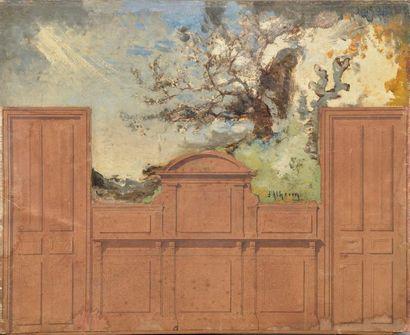 Jean D'ALHEIM (1832-1894). Projets de décors....