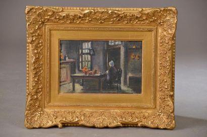 AMEY (XXe siècle). Femme assise dans une...