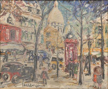 Lucien GENIN (1894-1953). Place du Tertre....
