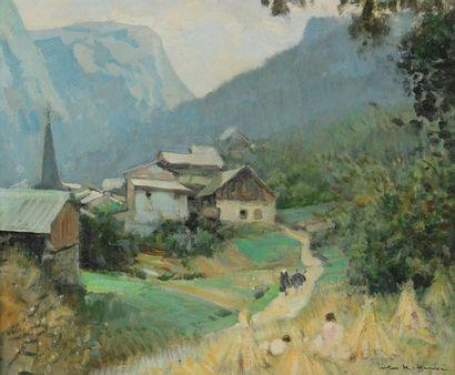 Jules RENÉ-HERVÉ (1887-1981). Village de...