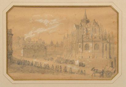 Ecole française du XIXe siècle. Le chevet...