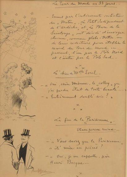 D'après Albert GUILLAUME (1873 - 1942). Textes...