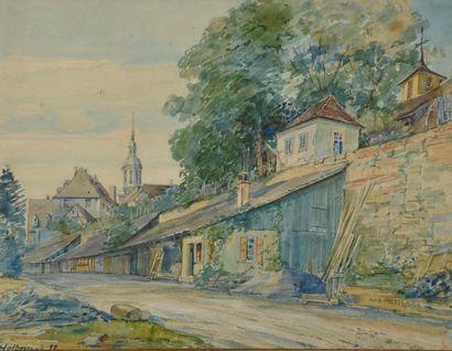 Ecole allemande de la fin du XIXe siècle....