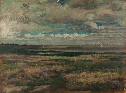Pierre-Emmanuel DAMOYE (1847- 1916). Paysage...