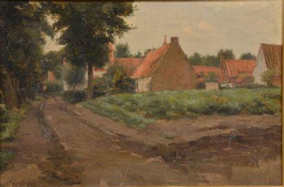 Rémy COGGHE (1854-1935). Ferme du coq anglais...