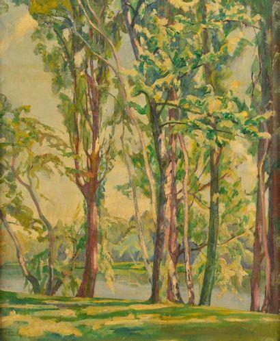 Pierre-Jules TRANCHANT (1882-?). Les arbres...