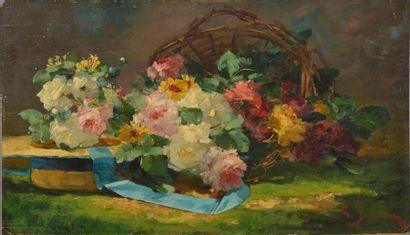 Georges JEANNIN (1841 - 1925) Jeté de fleurs....