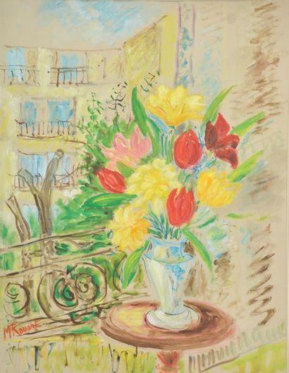 Madeleine ROUART (1896-1986). Bouquet de...