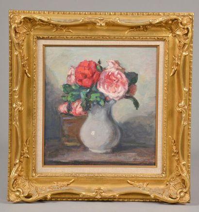 Albert ANDRÉ (1869-1954). Bouquet de roses...