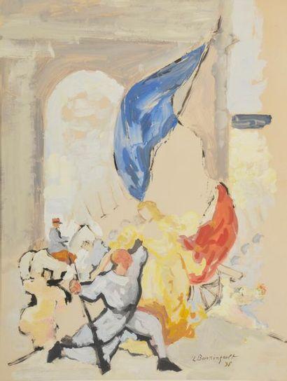 Jean-Louis BOUSSINGAULT (1883 - 1943). L'étendard....
