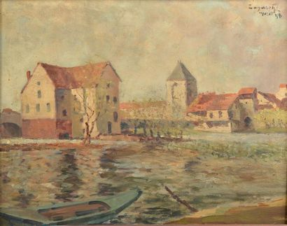 Prudent ZANAROFF (1885-1966). Vues de Moret-sur-Loing....
