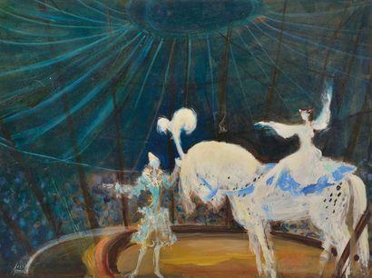 Michel de SEREVILLE (XXe siècle). - La cavalière...