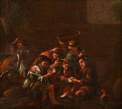 École des Bamboches, XVIIe siècle. La partie...