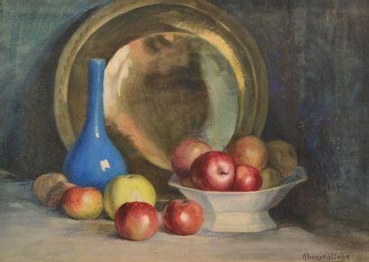 Jules Hervé MATHÉ (1863-1953). Nature morte...