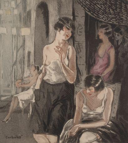Léon COURBOULEIX (XIXe - XXe siècle).  Scènes...