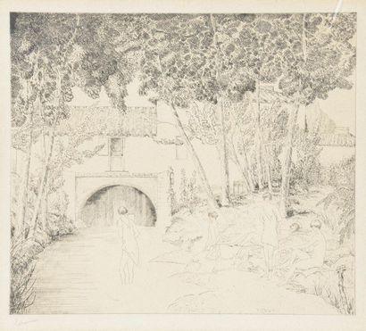 Jean-Émile LABOUREUR (1877-1943). Le moulin...