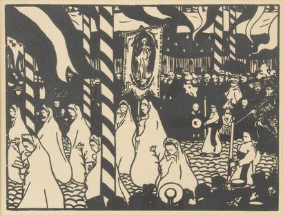 Jean-Émile LABOUREUR (1877-1943). La procession....