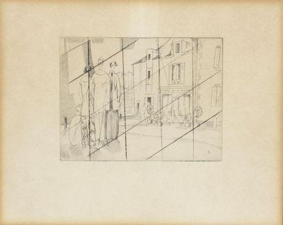 Jean-Émile LABOUREUR (1877-1943). Le café...