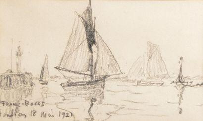 FRANK-BOGGS (1855-1926). Voilliers dans le...