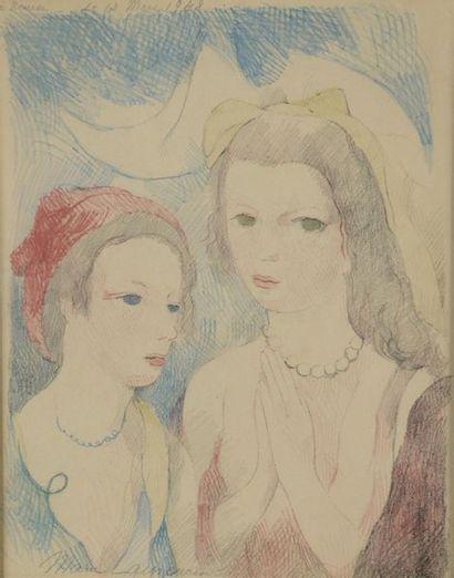 Marie LAURENCIN (1883-1956). Les deux anges....