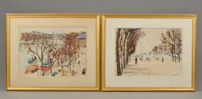 Paul MAZE (1887-1979). Jardin des Tuileries...