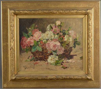 Georges JEANNIN (1841 - 1925). Panier de...