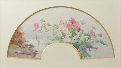 Alice GARCET MARCHEIX (XXe siècle). Fleurs...