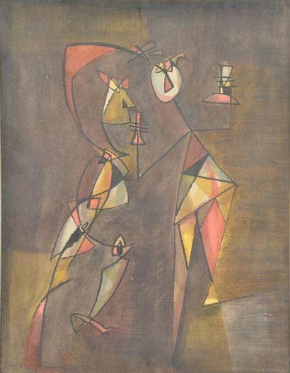 Geza SZOBEL (1905-1963). Composition aux...