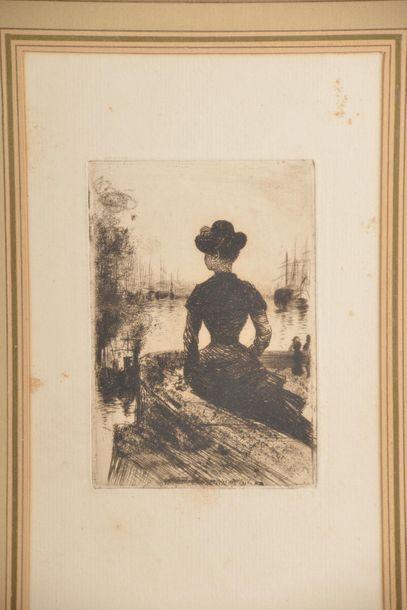Norbert GOENEUTTE (1854-1891). Femme sur...