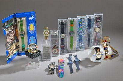 SWATCH. Montre bracelet chronographe en acier,...