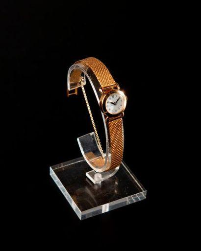 Montre bracelet de dame, le boîtier circulaire...