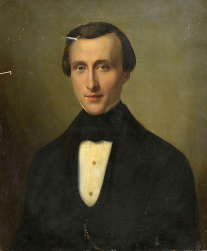 École Française vers 1840.  Portrait présumé...