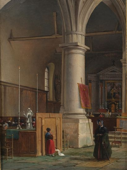 Attribué à Guillaume Frédéric RONMY (Rouen,...