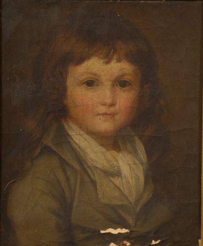 École Française vers 1840.  Portrait de...