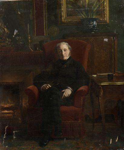Louis ROUX (Paris, 1817 - 1903).  Portrait...