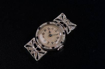 Boîtier de montre de dame en platine 800...