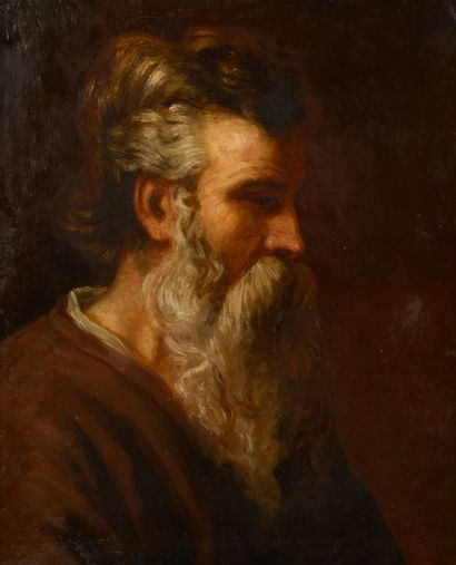 Dans le goût du XVIIe siècle.  Portrait d'homme...